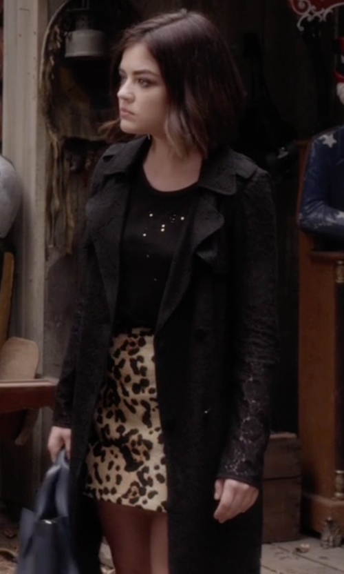 Lucy Hale with Asos Classic Trench Coat in Pretty Little Liars