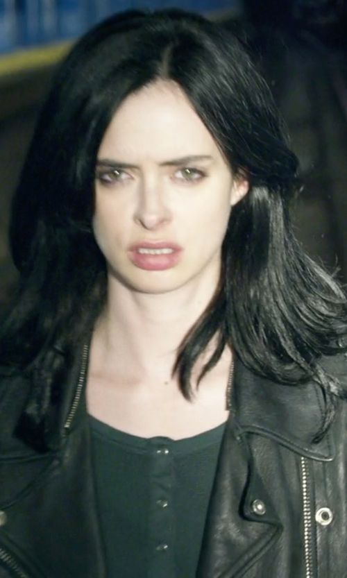 Krysten Ritter with Splendid Thermal Henle Tee in Jessica Jones