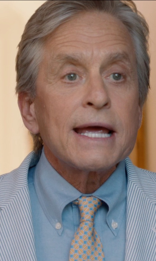 Michael Douglas with J. Crew Button-Down Collar Cotton Oxford Shirt in And So It Goes