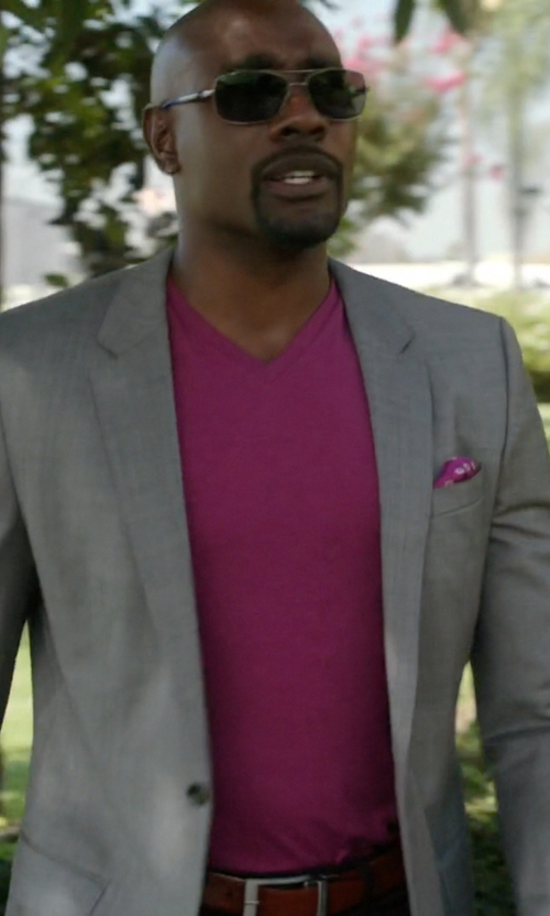 Morris Chestnut with Ray-Ban RB3527 Sunglasses in Rosewood