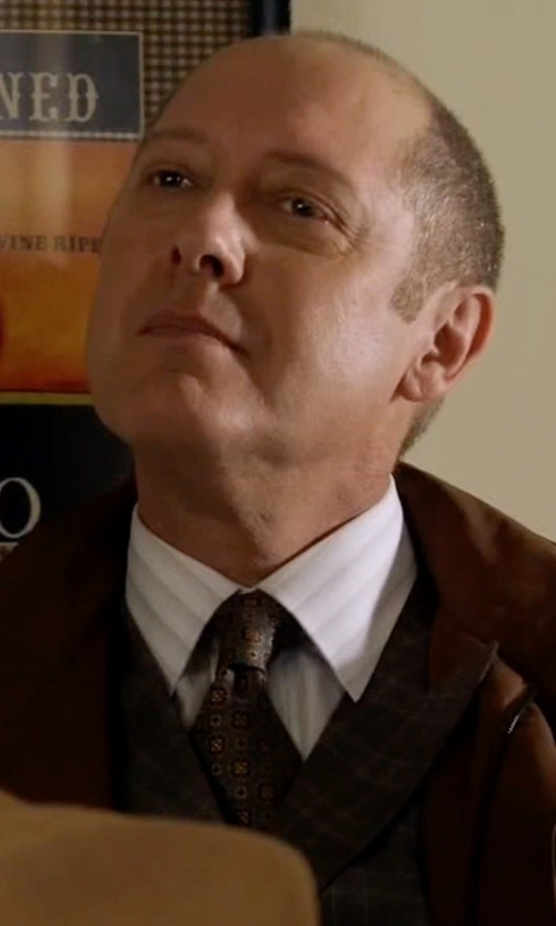 James Spader with Ike Behar Stripe Dress Shirt in The Blacklist