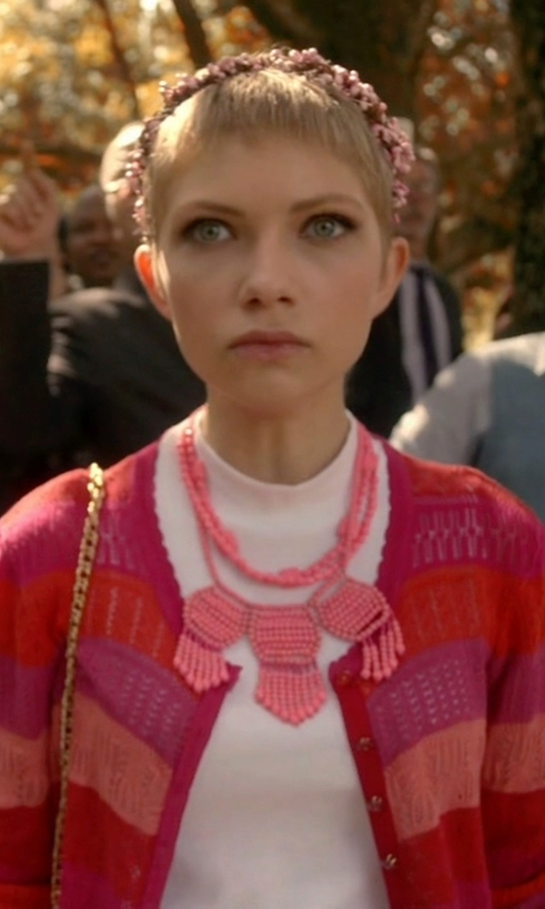 Tavi Gevinson with Marc by Marc Jacobs 'Tracy' Pointelle Cardigan in Scream Queens