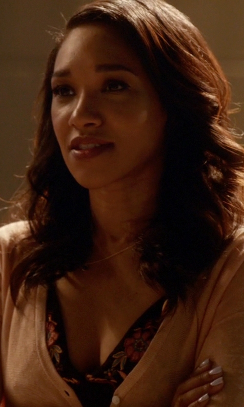 Candice Patton with Out From Under Willa Smocked Bra in The Flash