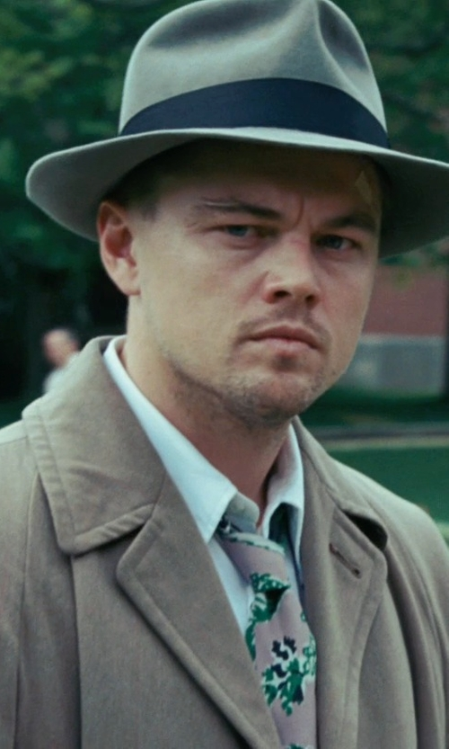 Leonardo DiCaprio with Boss Hugo Boss Sharp Fit French Cuff Dress Shirt in Shutter Island