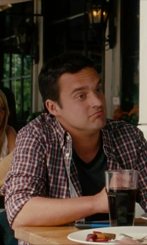 Jake Johnson with Salvatore Piccolo Plaid Shirt in No Strings Attached