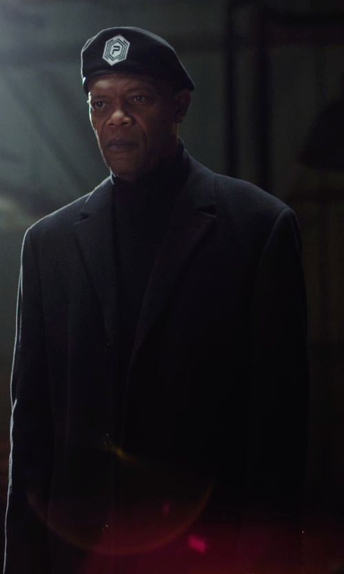 Samuel L. Jackson with Paul & Joe Single Breasted Coat in Barely Lethal