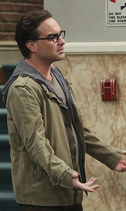Johnny Galecki with J. Lindeberg Water-Repellent Military Jacket in The Big Bang Theory
