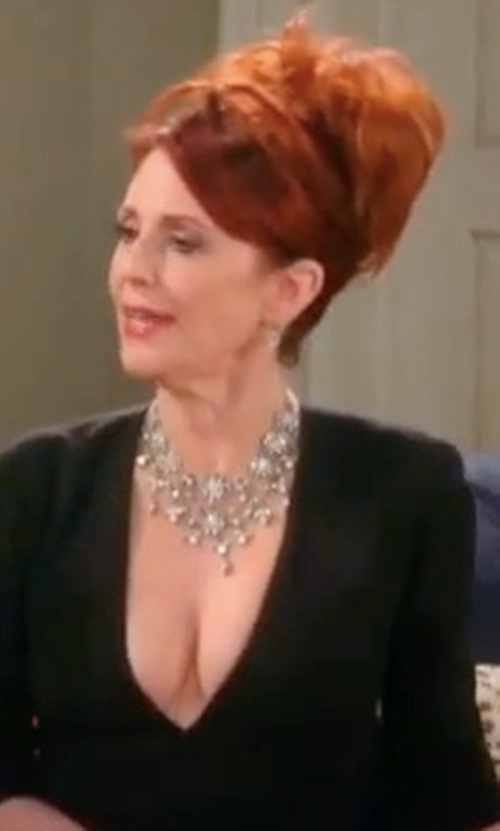 Megan Mullally with Kendra Scott Seraphina Crystal Bib Necklace in Will & Grace