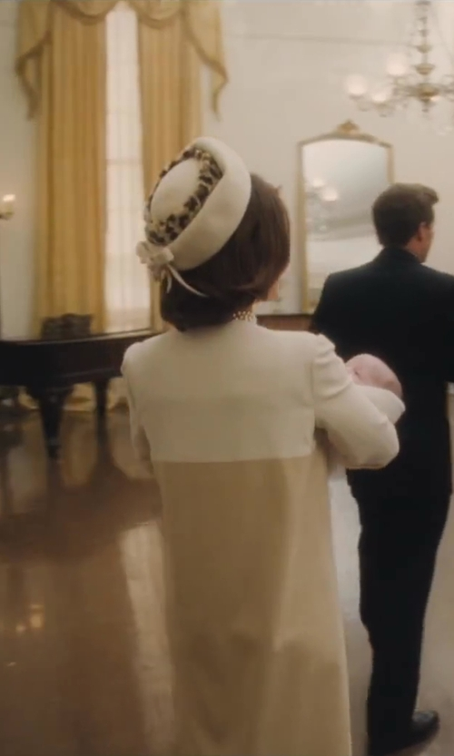 Minka Kelly with Ruth E. Carter (Costume Designer) Custom Made Pillbox Hat (Jacquelin Kennedy) in Lee Daniels' The Butler