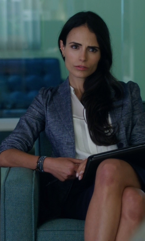 Jordana Brewster with Theory Linworth B Tierra Wash Jacket in Lethal Weapon