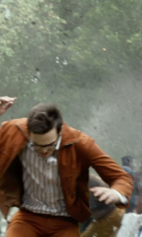 Nicholas Hoult with Polo Ralph Lauren Suede Sport Coat in X-Men: Days of Future Past