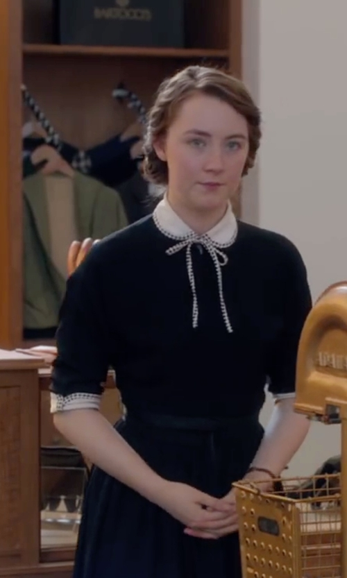 Saoirse Ronan with The Elder Statesman Basic Sweater in Brooklyn