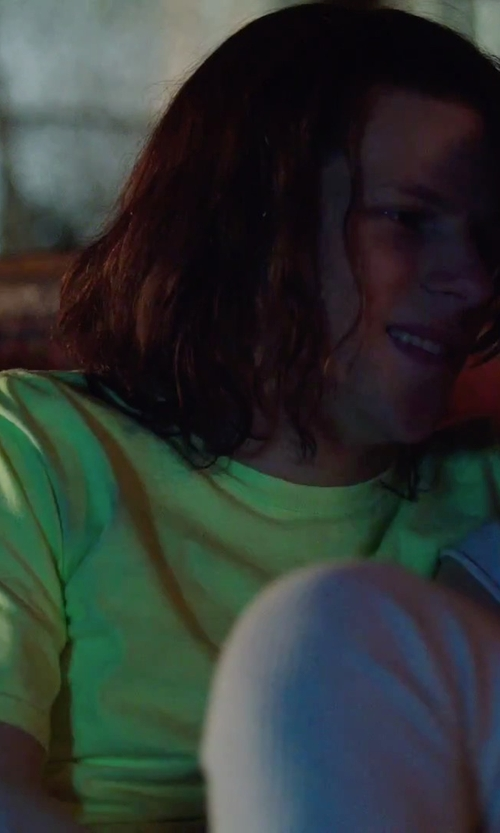 Jesse Eisenberg with American Apparel Short Sleeve Crew Neck T-Shirt in American Ultra