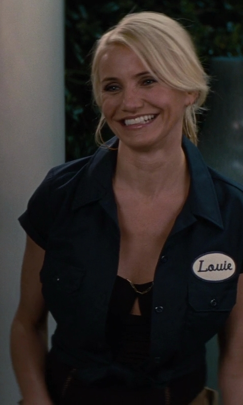 Cameron Diaz with Unknown Sexy Mechanic Costume in The Other Woman