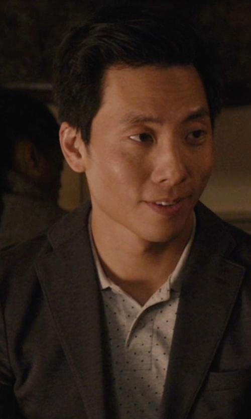 Kelvin Yu with DKNY Grey Plain Blazer in Master of None
