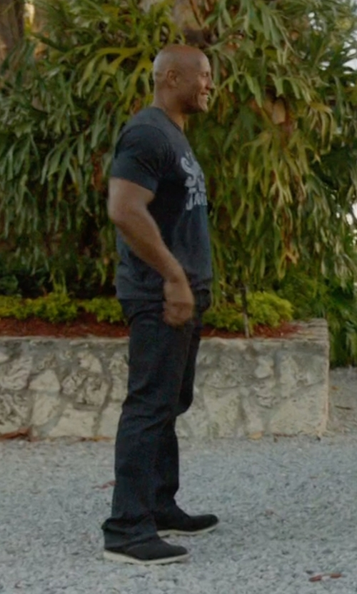 Dwayne Johnson with Vince Austin Nubuck Lace-Up Sneakers in Ballers