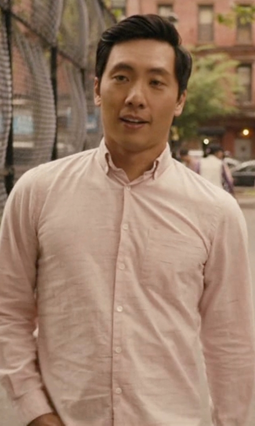 Kelvin Yu with J. Crew Factory Slim Oxford Shirt in Master of None