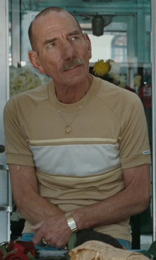 Pete Postlethwaite with Asos Stripe T-Shirt With Color Block in The Town