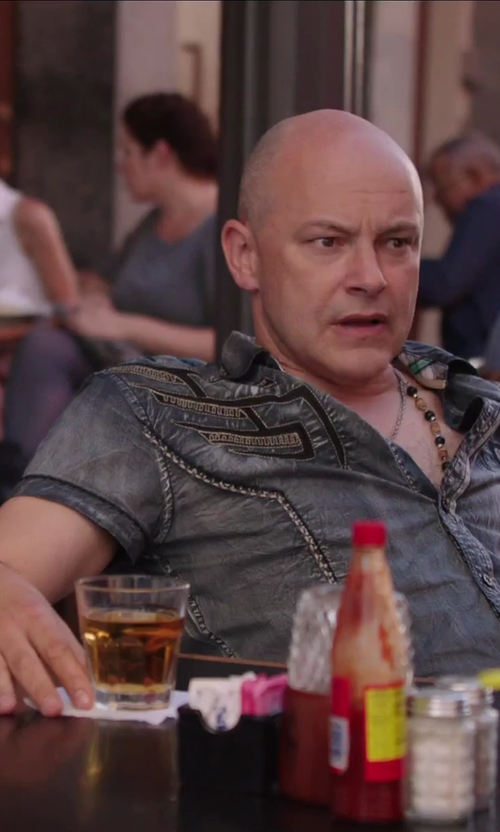 Rob Corddry with Private Label Adjustable Spiked Vinyl Wrist Band Bracelet Spikes in Hot Tub Time Machine 2