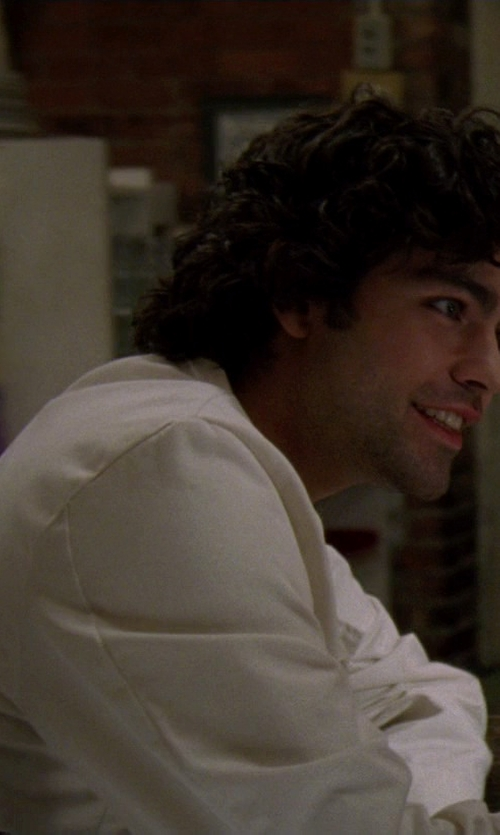 Adrian Grenier with Polo Ralph Lauren Long Sleeve Linen Shirt in The Devil Wears Prada