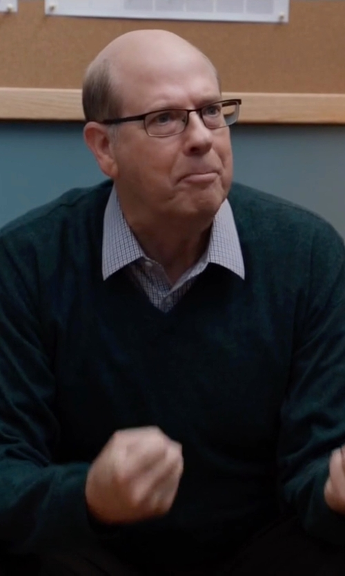 Stephen Tobolowsky with C/89 Men V-Neck Wool Sweater in Silicon Valley