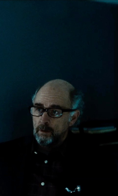 Richard Schiff with Ace Oxford Mens Long Sleeve Shirt in Man of Steel