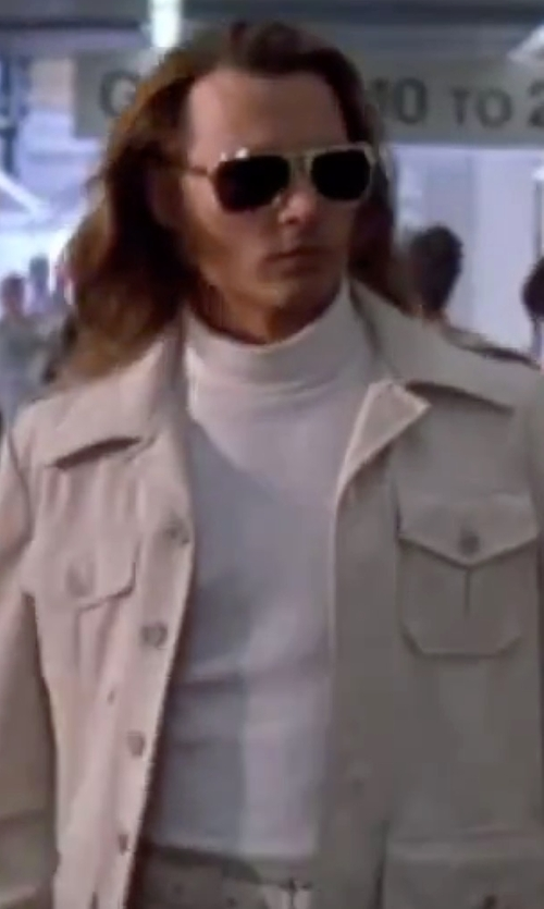 Johnny Depp with AG  Green Label 'Thomas' Trim Fit Long Sleeve Turtleneck Shirt in Blow