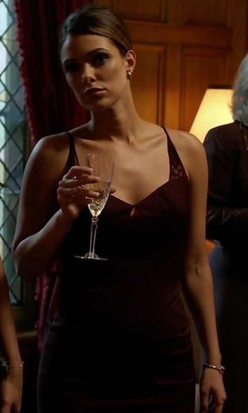 Anabelle Acosta with Noam Hanoch Shiraz Dress in Quantico