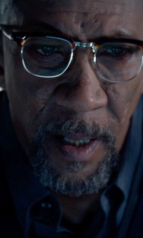 Reg E. Cathey with Theory Slim-Fit Dover Luxe Dress Shirt in Fantastic Four