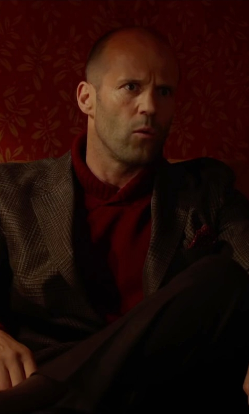 Jason Statham with Drake's Silk Polka-Dot Pocket Square in Spy
