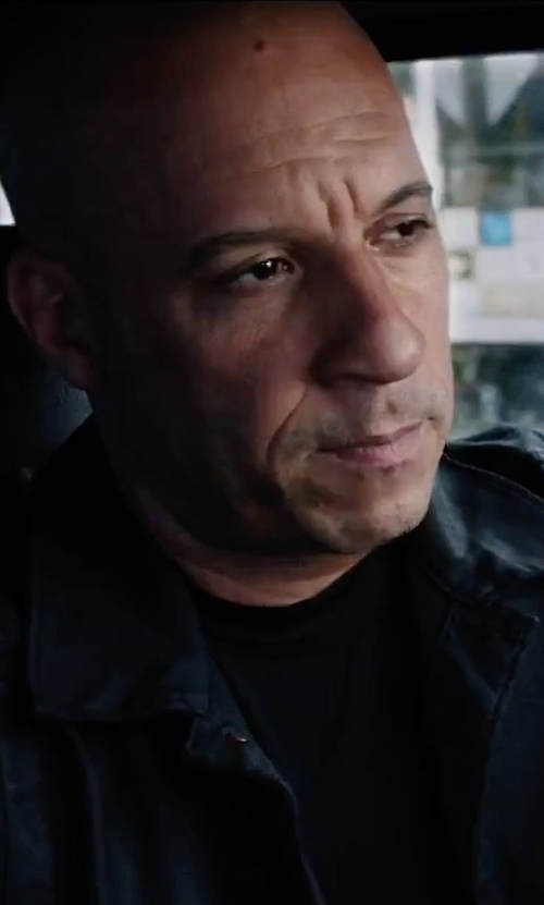 Vin Diesel with Calvin Klein Denim Coated Jacket in The Fate of the Furious