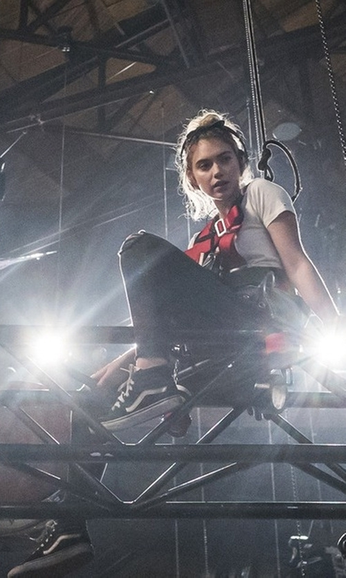 Imogen Poots with Vans Sk8-Hi Sneakers in Roadies
