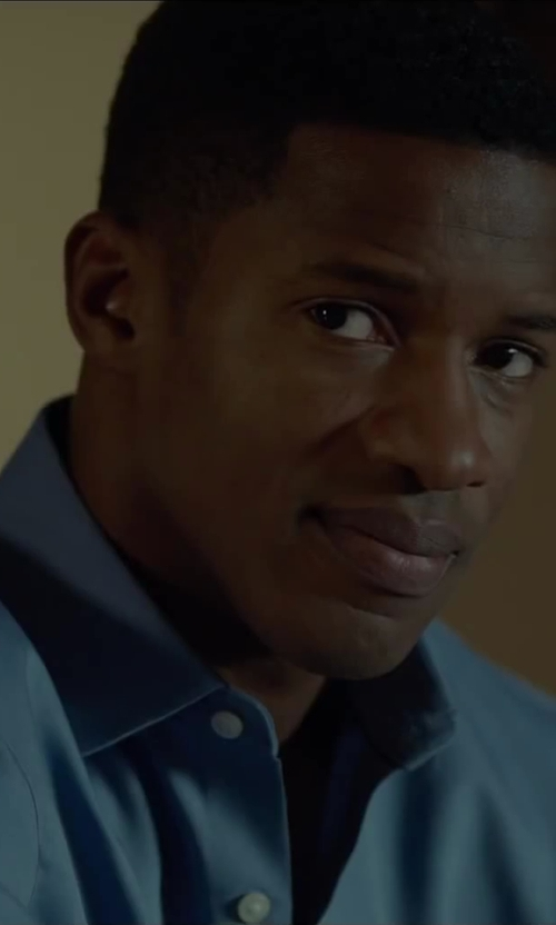 Nate Parker with Armani Collezioni Cotton Dress Shirt in Beyond the Lights