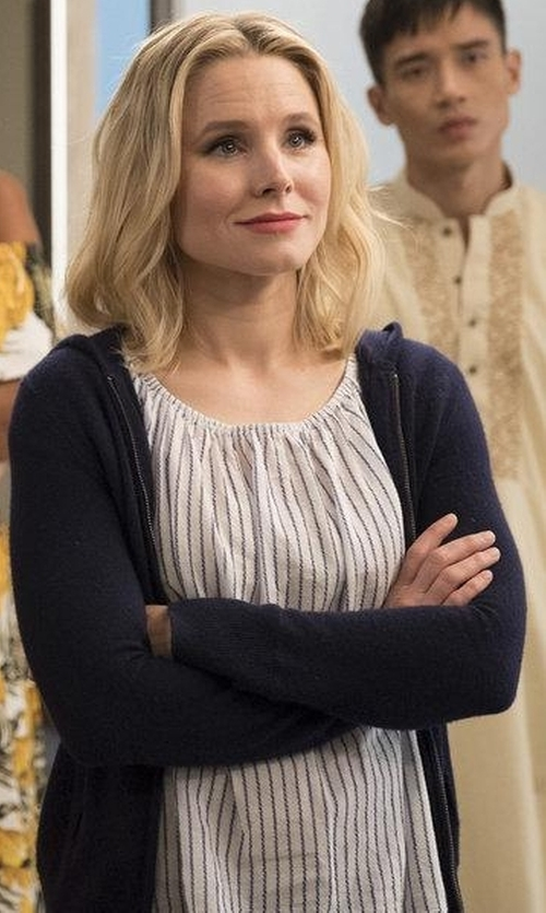 Kristen Bell with UGG Clara Zip Hoodie in The Good Place
