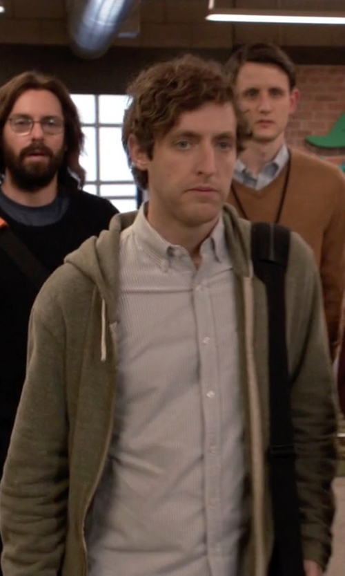 Thomas Middleditch with Alternative Apparel Rocky Zip-Front Hoodie in Silicon Valley