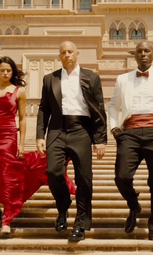 Vin Diesel with Tom Ford Made To Measure Tuxedo in Furious 7