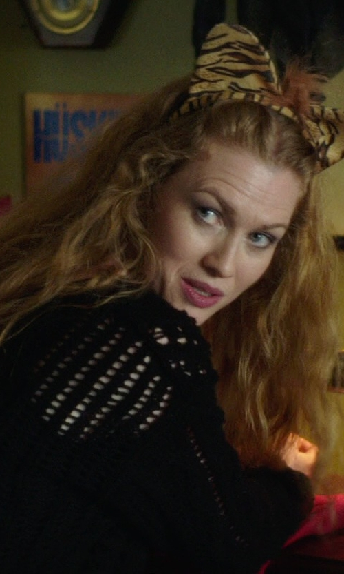 Mireille Enos with Clearstone Fluffy Cat Ear Headband in If I Stay