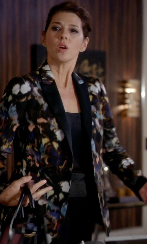 Marisa Tomei with Etro Floral Print Blazer in Empire