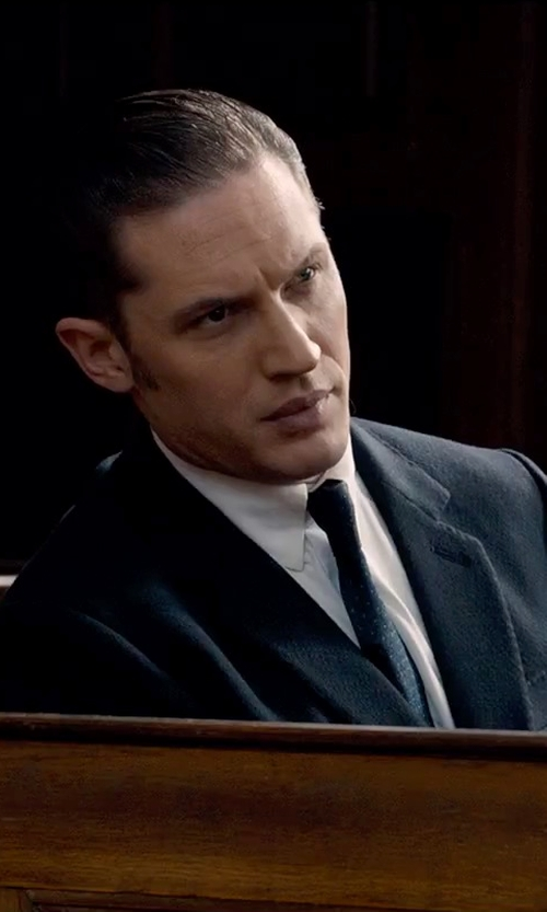 Tom Hardy with Burberry London Rohan Floral And Pin-Dot Silk Tie in Legend