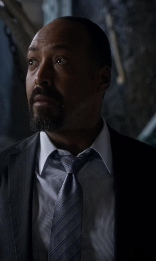 Jesse L. Martin with Lauren Ralph Lauren Classic Fit Pinstriped Wool Suit Jacket in The Flash