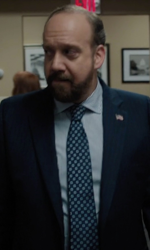 Paul Giamatti with Brooks Brothers Fitzgerald Fit Two-Button 1818 Suit in Billions
