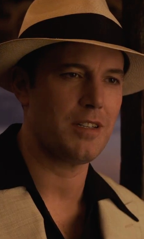 Ben Affleck with Scala Panama Snap Brim Hat in Live By Night