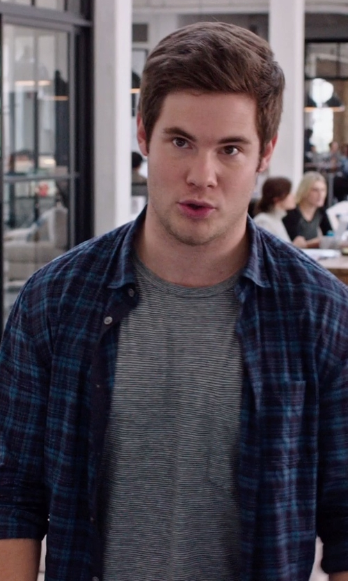 Adam DeVine with Pendleton Lodge Shirt in The Intern