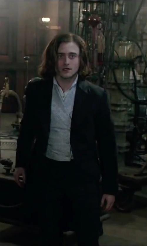 Daniel Radcliffe with Carlo Pignatelli Jacquard Vest in Victor Frankenstein