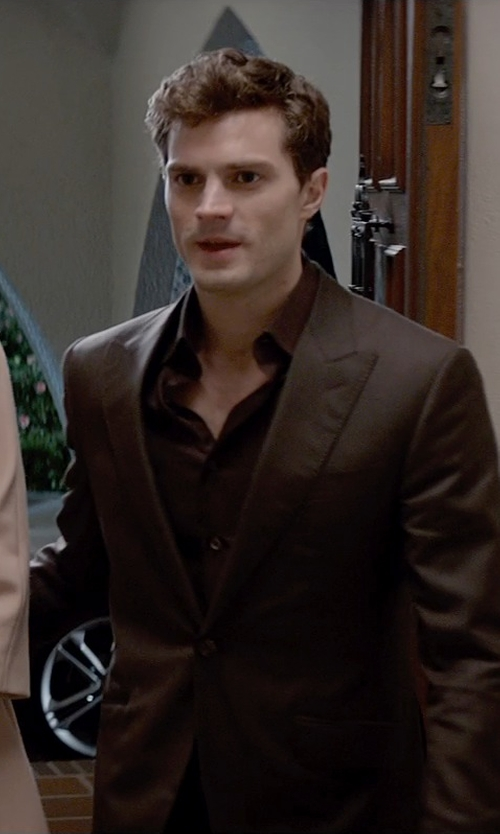Jamie Dornan with Anto Beverly Hills Custom Made Wine Dress Shirt in Fifty Shades of Grey