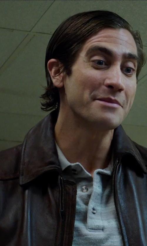 Jake Gyllenhaal with Calvin Klein Short-sleeved Polo Shirt in Nightcrawler