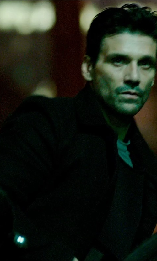 Frank Grillo with Michael Kors Wool-Blend Car Coat in The Purge: Anarchy