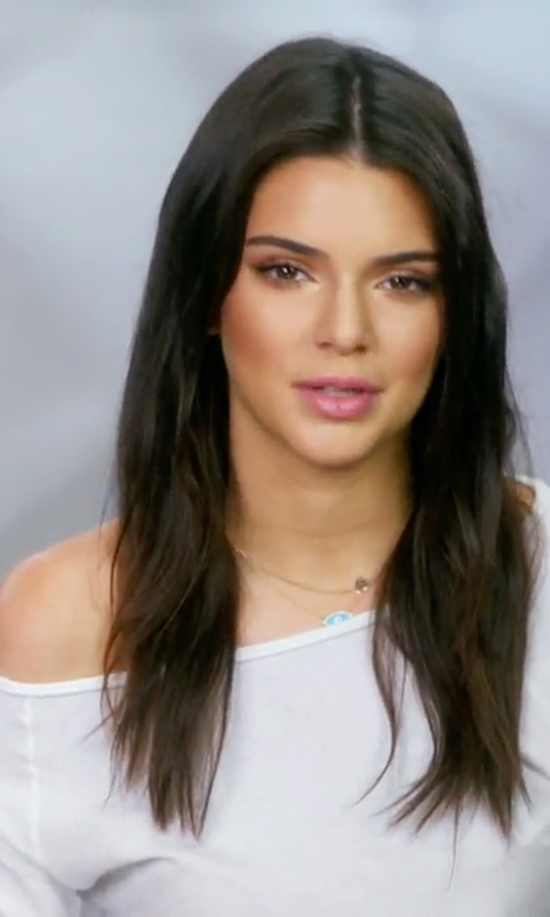Kendall Jenner with Cotton Citizen Raw Edge Raglan Top in Keeping Up With The Kardashians