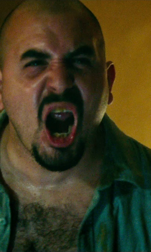 Noel Gugliemi with Surfside Supply Company Men's Denim Long-Sleeve Work Shirt in The Purge: Anarchy