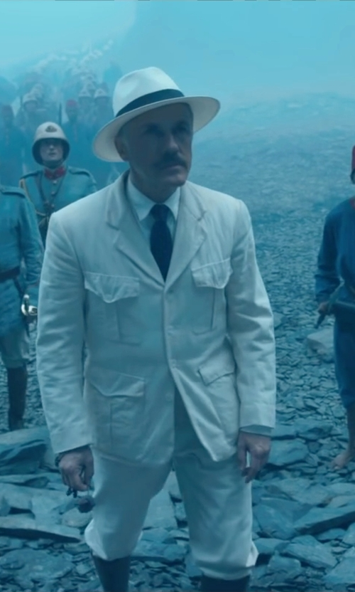 Christoph Waltz with Goorin Brothers 'Snare' Straw Fedora Hat in The Legend of Tarzan